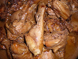 Homemade Filipino chicken adobo