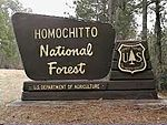 A sign for Homochitto National Forest.