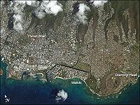 Zdjęcie satelitarne Honolulu