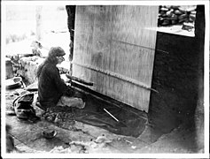 Hopi Indian man weaving a blanket, ca.1900 (CHS-3931).jpg