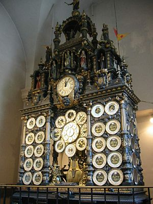 Astronomical clock (Besançon) - The astronomical clock in Besançon Cathedral