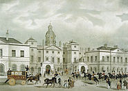Horse Guards from Whitehall Shotter Boys pub 1836 edited