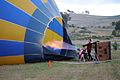 Hot air balloon hot air inflation 1.JPG