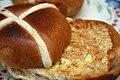 Hot cross buns for Easter, April 2006.jpg