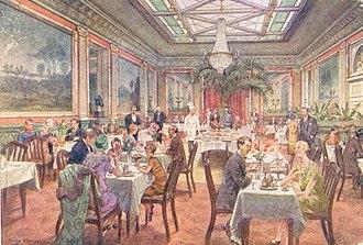 Hotel Phoenix Copenhagen - The Cavellier Hall in Hotel Phoenix, c. 1900