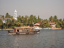 A House boat in Kollam - Scene from Thevally