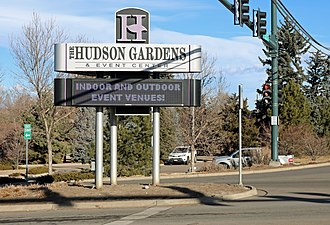 Hudson Gardens - The entrance on South Vinewood Street.