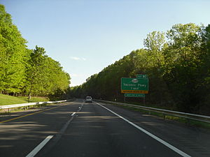 Interstate 90 in New York - The Berkshire Connector (I-90) near exit B2 in Chatham