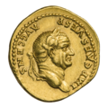 INC-1840-a Ауреус Веспасиан ок. 73 г. (аверс).png