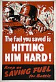 INF3-183 Fuel Economy The fuel you saved is hitting him hard (German soldier) Artist Clive Uptton.jpg