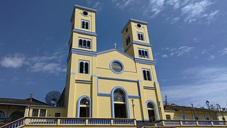 Junín, Cundinamarca - Image: Iglesia de Junin en la tade