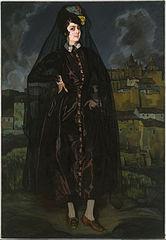 Anita Ramírez, in black