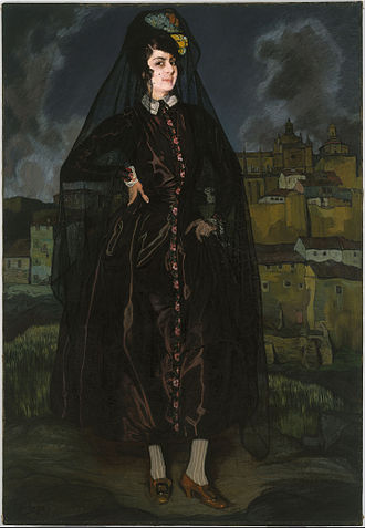 Ignacio Zuloaga - Portrait of Anita Ramírez in Black (1916)