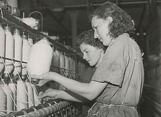 Textile industry - Textile factory workers in Poland, 1950s