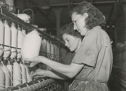 Textile factory workers in Poland, 1950s