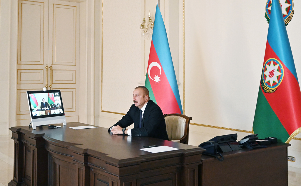 Ilham Aliyev chaired a Security Council meeting (cropped)