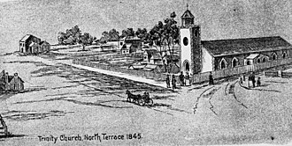 Holy Trinity Church, Adelaide - Illustration of Holy Trinity Church, Adelaide, 1845.