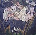 In de cafetuin door Ernst Ludwig Kirchner (1880-1938).jpg