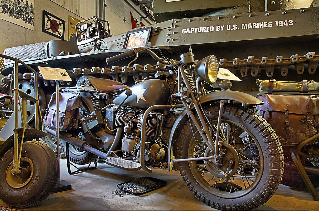 Military Motorcycle With Sidecar For Sale