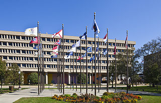 Federal building in Indianapolis, IN, USA
