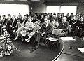 Installatie van G.H. van Egerschot tot burgemeester van Bennebroek de zaal een moment vóór de installatie afbeelding door Fotopersbureau C. de Boer. - Haarlem de Boer, 1984. - 1 foto, NL-HlmNHA 54016689.JPG
