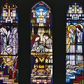 Interieur, glas in loodramen, de 'verborgen'ramen door Toon Berg uit 1925 in de voormalige doopkapel. - Delft - 20421651 - RCE.jpg