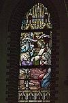 interieur mariakapel, glas in loodraam- sterfbed van jozef - lith - 20334104 - rce