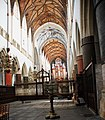 Interior of Great St Bavochurch A.D. circa 1500 at Haarlem. There is only a stone Vault (stenen gewelf) at the so called çrossing point between the longitidunal ship and Corus and the transverse Transcept. Further it i - panoramio.jpg