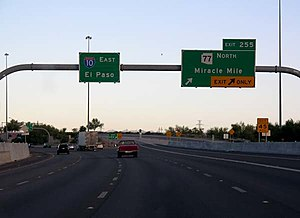 Interstate 10 in Arizona - Miracle Mile (SR 77) in Tucson
