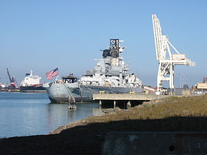 Iowa docked at Terminal 3 in Richmond CA.jpg
