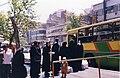 Iran, Tehran Bus - entrées et files séparées pour les femmes et les hommes - Women entrance at the back, men entance at the front (9259635709).jpg