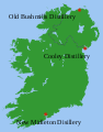 Irish whiskey distillery map.svg