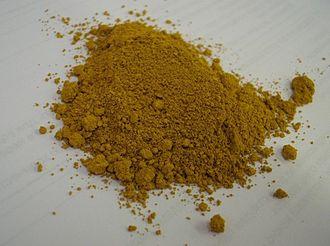 Iron(III) oxide - Image: Iron oxide yellow