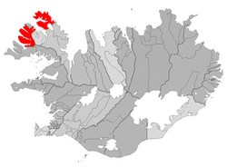 Location of the Municipality of Ísafjarðarbær