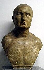 Busto di Publio Cornelio Scipione. Nel Canto degli italiani è chiamato