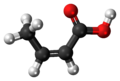 Isocrotonic acid 3D ball.png