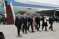 Israeli leaders accompany President George W. Bush and Laura Bush.jpg