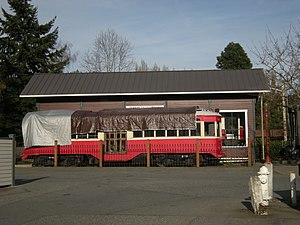 Issaquah, Washington - Issaquah Valley Trolley car. This is an ex-Milan, Italy, interurban car and is not the trolley being used for service.