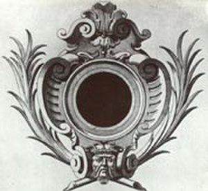 Cartouche (design) - Italian design for a cartouche frame, 16th century
