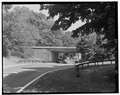 JAMES BAIRD STATE PARK, ENTRANCE ROAD OVERPASS, VIEW E. - Taconic State Parkway, Poughkeepsie, Dutchess County, NY HAER NY,14-POKEP.V,1-39.tif