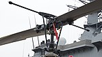 JGSDF UH-1J(41894) rotor head left rearlow-angle view at Amagasaki Port July 9, 2017.jpg