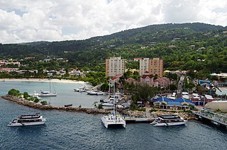 Ocho Rios Town in Middlesex, Jamaica