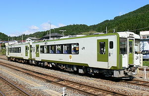 Ōfunato Line - KiHa 100 DMU at Kesennuma Station, October 2006