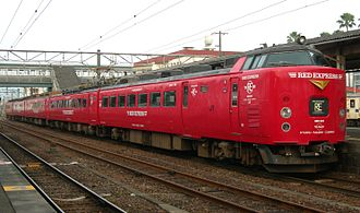 Nichirin - 485 series EMU on Nichirin service