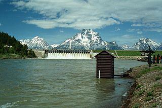 dam in Teton County, Wyoming, in Grand Teton National Park