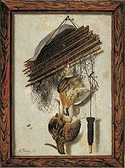 Dead Wildfowl and a Huntsman's Net. Trompe l'oeil