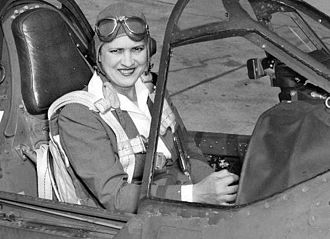 Jacqueline Cochran - Cochran in the cockpit of a Curtiss P-40 Warhawk.