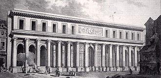 Jacques Gondouin - École de Chirurgie, façade on the street.