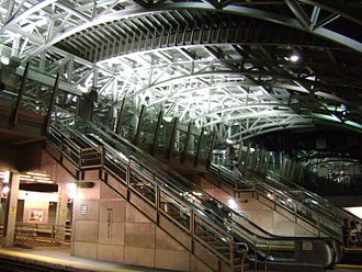 Jamaica station - The new steel glass canopy