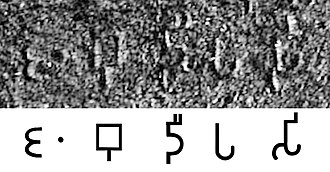 "Names for India - The name Jambudīpasi for ""India"" (Brahmi script) in the Sahasram Minor Rock Edict of Ashoka, circa 250 BCE."